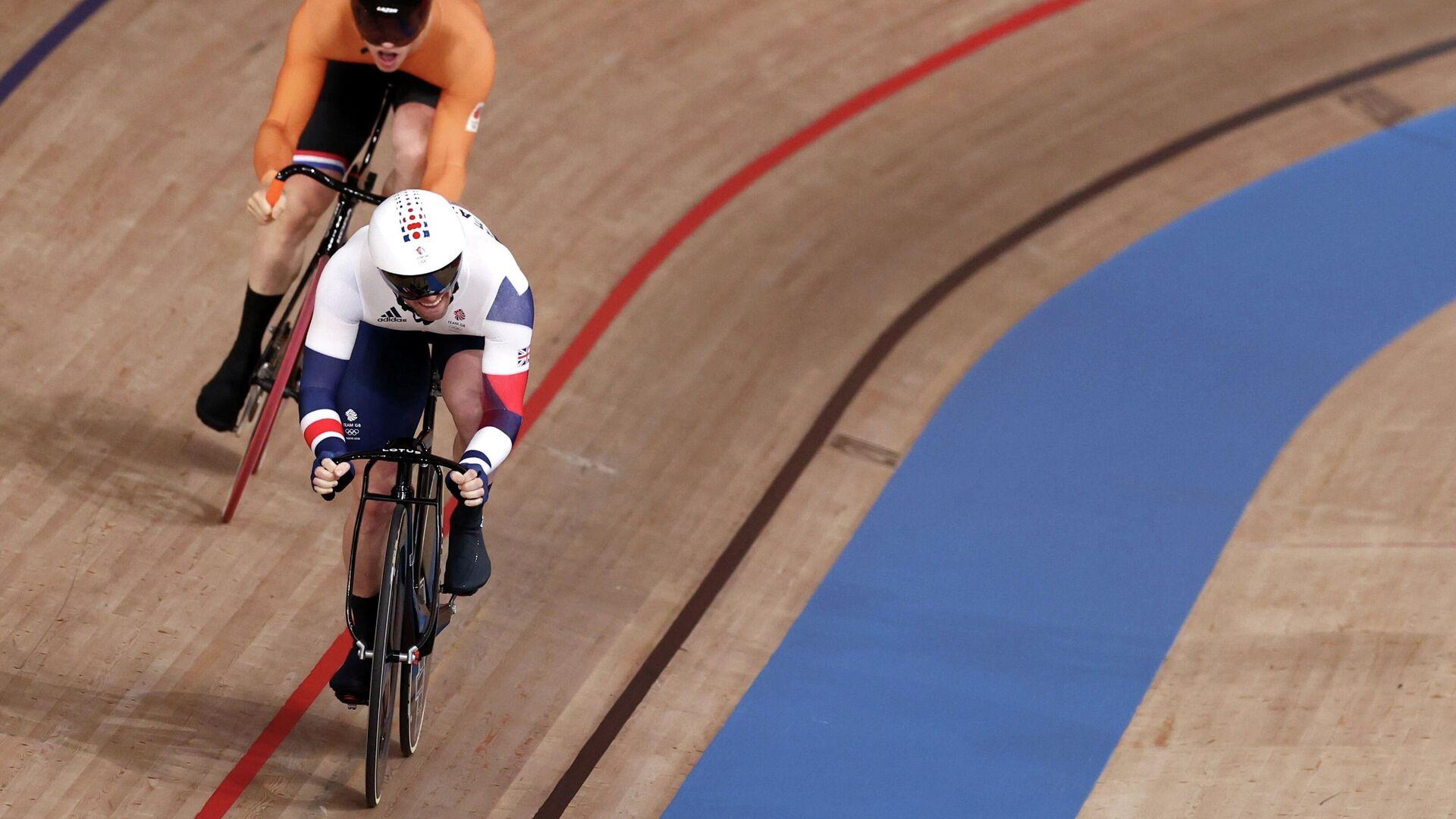 Британский велогонщик Джейсон Кенни на Олимпиаде в Токио - РИА Новости, 1920, 05.08.2021