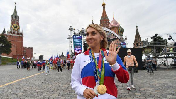 Елена Веснина, завоевавшая серебряную медаль в смешанном разряде турнира по теннису на XXXII летних Олимпийских играх в Токио