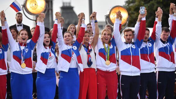 Концерт в честь олимпийской сборной России на Красной площади