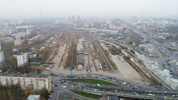 Территории Рижского грузового двора в Москве