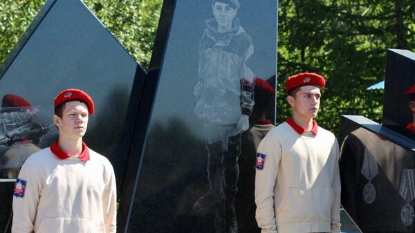 Открытие мемориала в память о Дмитрии Новоселове в Копейске, Челябинская область