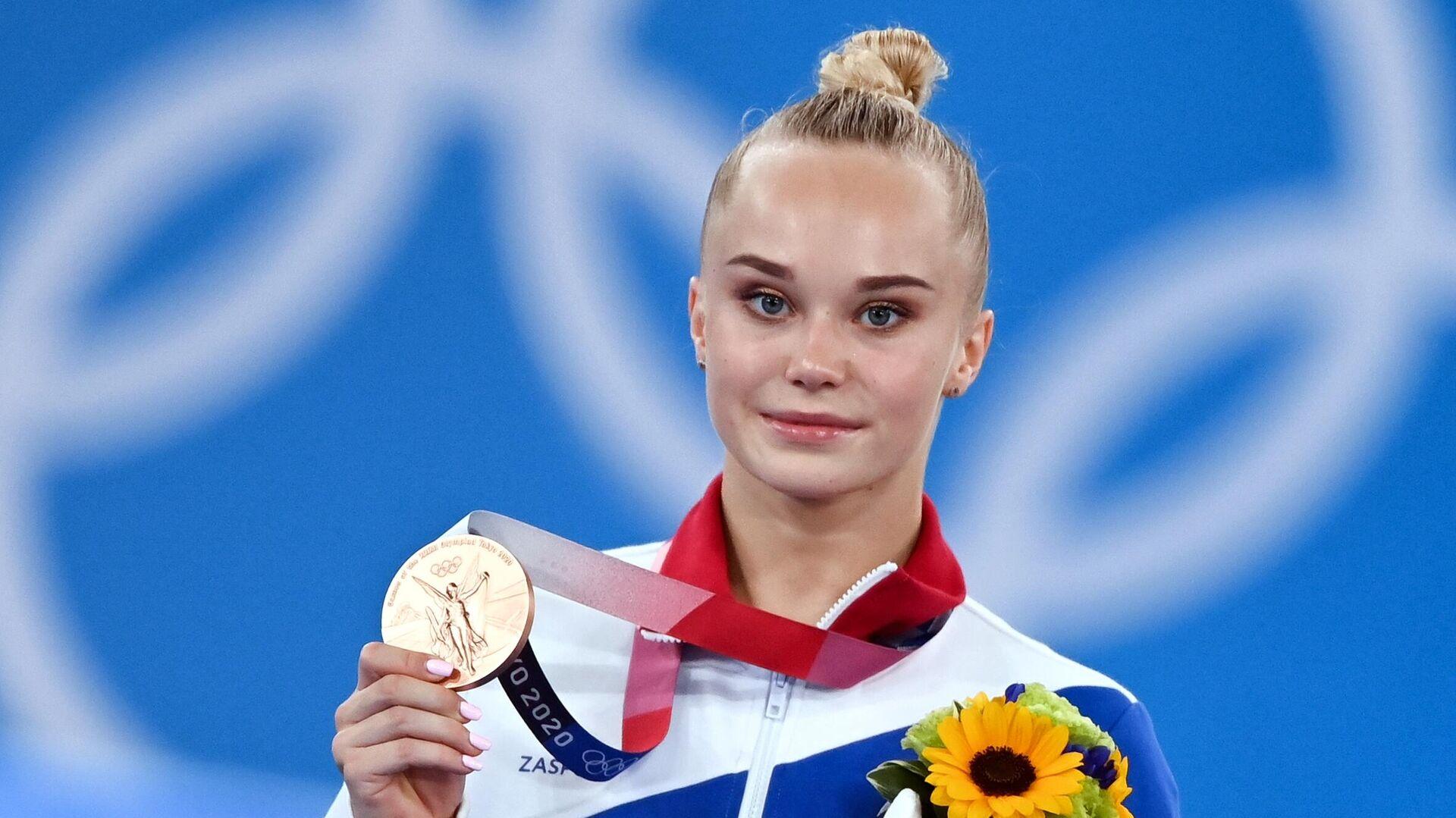 Олимпиада-2020. Спортивная гимнастика. Женщины. Вольные упражнения - РИА Новости, 1920, 02.08.2021