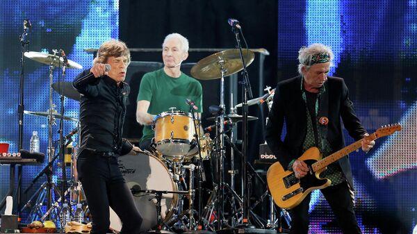 Участники группы Rolling Stone: Мик Джаггер, Чарли Уоттс и Кит Ричардс