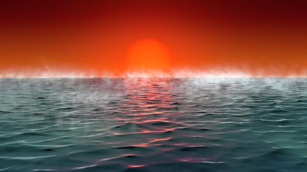 Так в представлении художника выглядит поверхность планеты Hycean