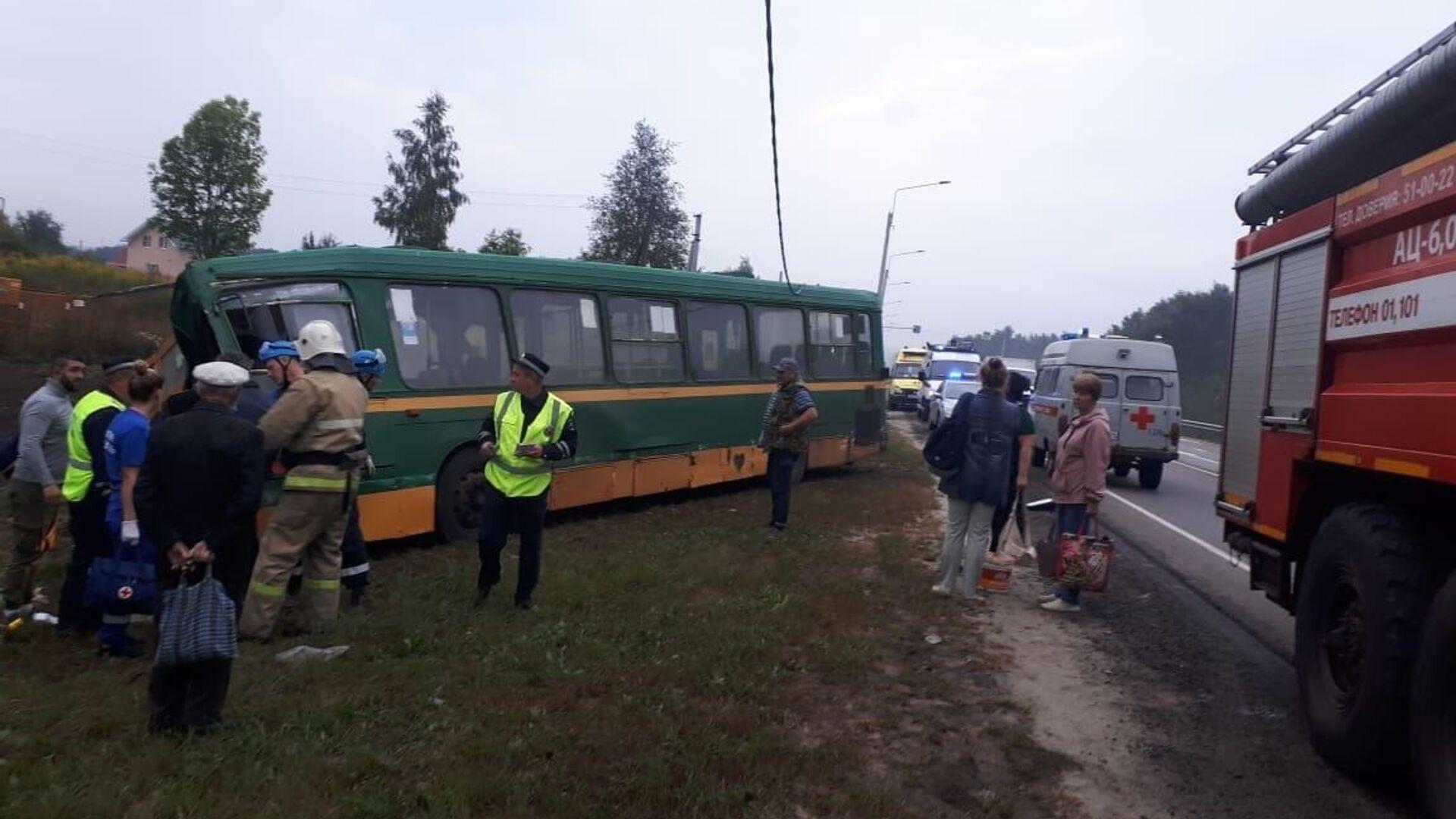 В Курской области два человека пострадали в ДТП с автобусом