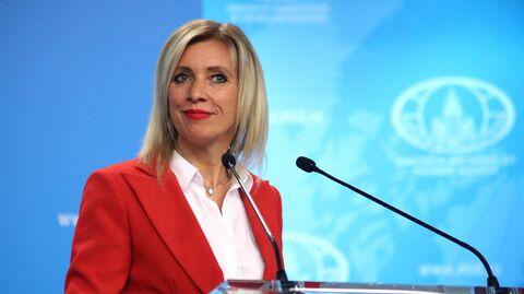 Официальный представитель Министерства иностранных дел РФ Мария Захарова во время брифинга