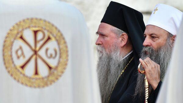 Митрополит Иоанникий и Глава Сербской Православной Церкви Патриарх Порфирий