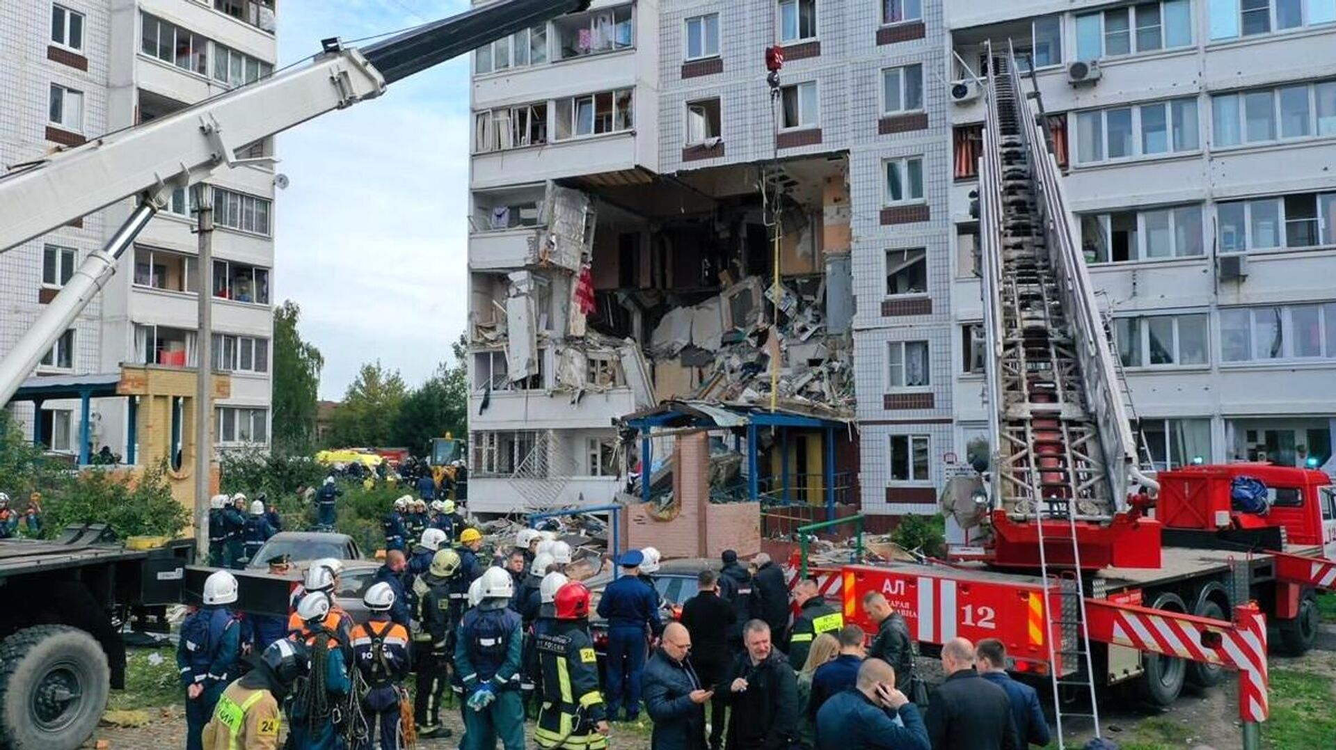 Взрыв газа в жилом доме в Ногинске - РИА Новости, 1920, 08.09.2021
