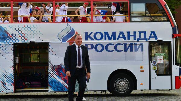 Торжественная встреча олимпийцев на Красной площади