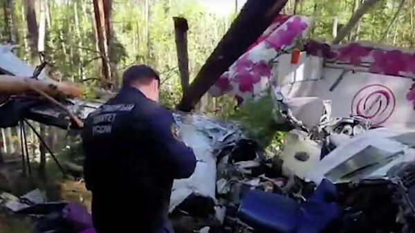На месте жесткой посадки самолёта L-410 в Иркутской области. Кадр видео