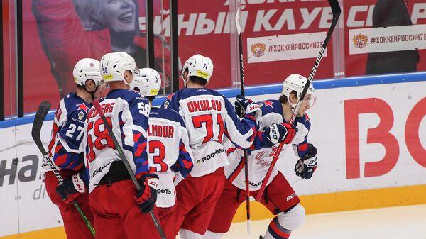 Хоккеисты московского ЦСКА.