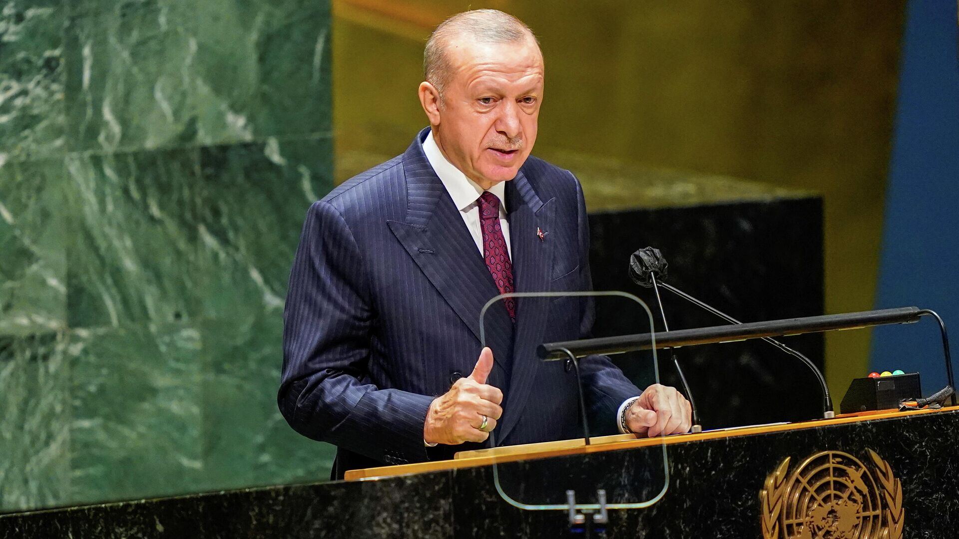 """Эрдоган заявил на Генассамблее ООН об """"аннексированном"""" Крыме - РИА  Новости, 22.09.2021"""
