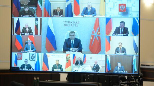 Участники встречи президента РФ Владимира Путина с избранными высшими должностными лицами субъектов РФ