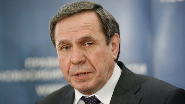 Губернатор Новосибирской области В. Городецкий. Архивное фото