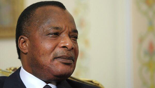 Президент Республики Конго Дени Сассу-Нгессо, архивное фото