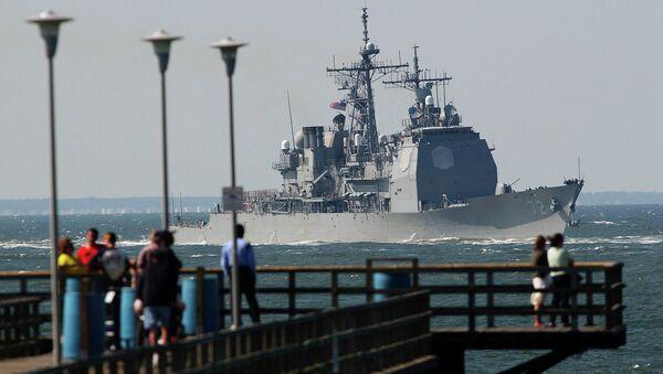 Корабль ВМС США возле Вирджиния-Бич, штат Вирджиния. Архивное фото