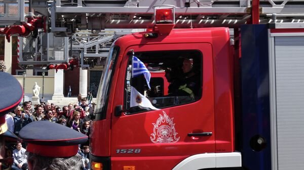 Пожарная машина в Афинах