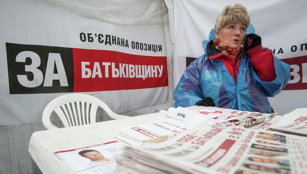 Политическая агитация партии Батькивщина. Архивное фото