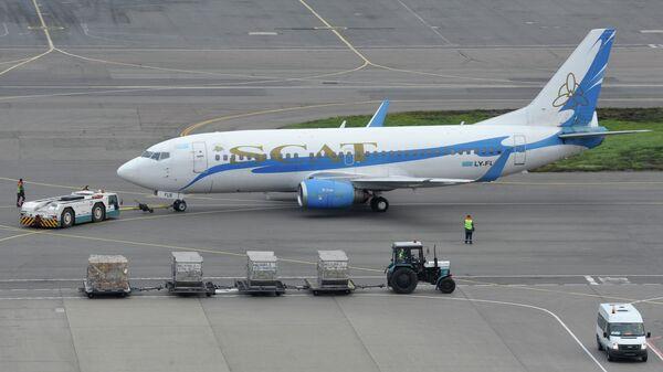 Пассажирский самолет казахстанской авиакомпании SCAT (СКАТ)