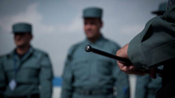Сотрудники полиции Афганистана. Архивное фото