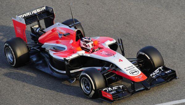 Болид команды Маруся на сезон Формулы-1-2014. Архивное фото