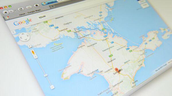Крым на карте Google Maps