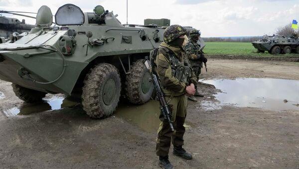 Бойцы украинской армии, архивное фото