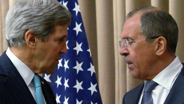 Встреча Сергея Лаврова и Джона Керри. Архивное фото