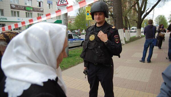 Захват заложников в белгородском банке Западный