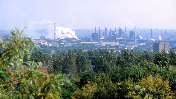 Вид на Донецкий металлургический завод. Архивное фото