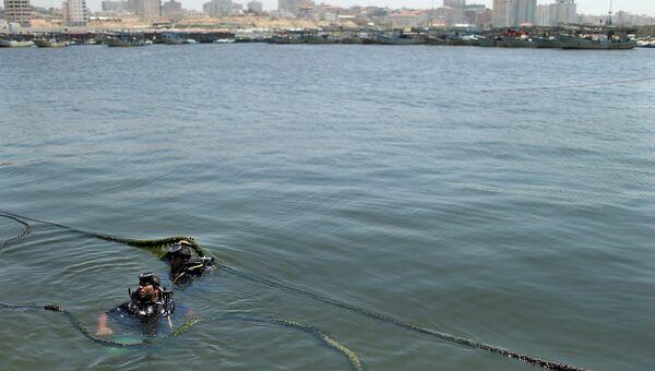 На месте затонувшей шхуны Ковчег Газы