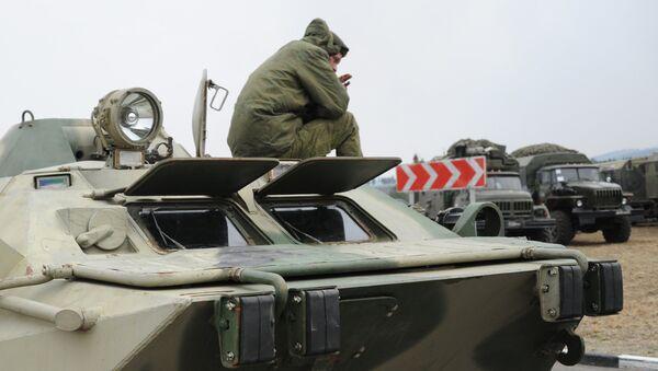 Ликвидация последствий пожара в воинской части в Забайкальском крае. Архивное фото
