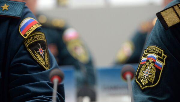 Нашивки на форме сотрудников МЧС . Архивное фото