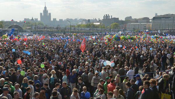 Первомайская демонстрация профсоюзов на Красной площади