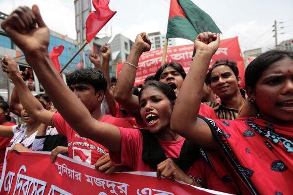 Первомайский митинг в Дакка, Бангладеш