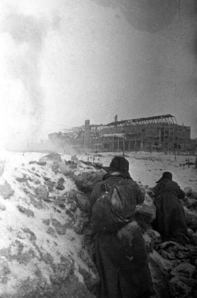 Бой на территории тракторного завода в Сталинграде, 1943 год
