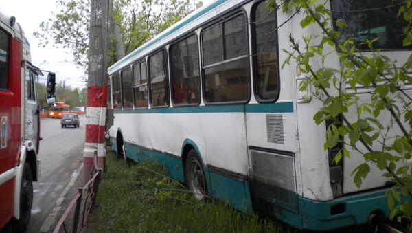 ДТП с участием автобуса в Автозаводском районе Нижнего Новгорода
