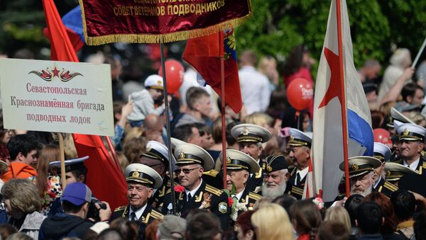 Парад Победителей в Севастополе. архивное фото