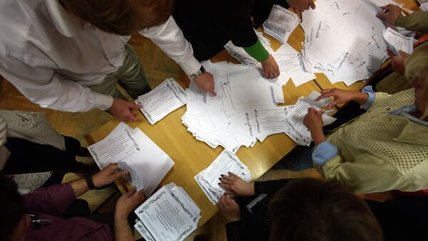 Подсчет голосов по итогам референдума о статусе юго-востока Украины