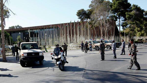 Обстановка в Триполи, у здания Всеобщего национального конгресса
