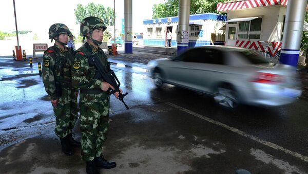 Работа полицейских в Китае. Архивное фото