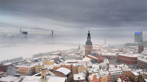 Вид на Ригу, Латвия