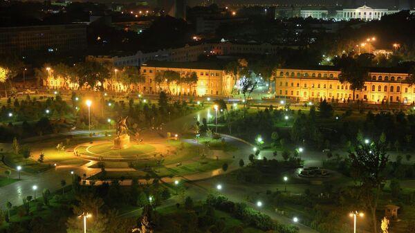 Ночной Ташкент, Узбекистан. Архивное фото