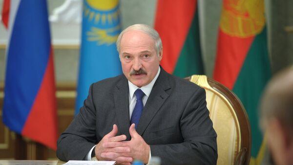 Президент Белоруссии Александр Лукашенко на заседании Высшего Евразийского экономического совета на уровне глав государств в Минске