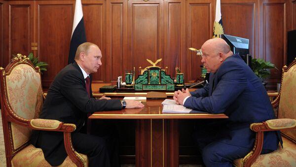 Рабочая встреча В.Путина с В.Шанцевым