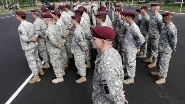 Американские военнослужащие на военных учениях НАТО. Архивное фото