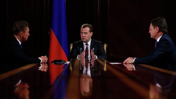 Д.Медведев встретился с А.Миллером и А.Новаком