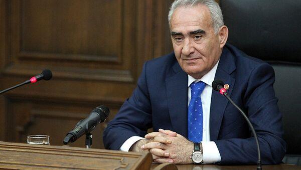 Спикер Национального собрания (парламента) Республики Армения Галуст Саакян. Архивное фото