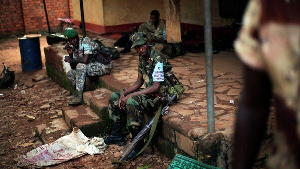 Военные на базе в Бамбари, ЦАР. Архивное фото