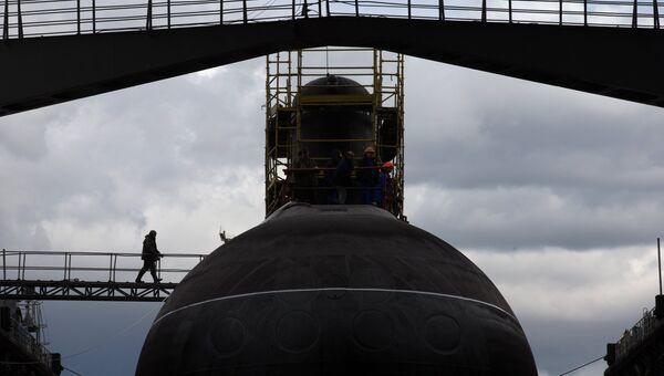 Спуск на воду дизель-электрической подводной лодки Ростов-на-Дону. Архивное фото